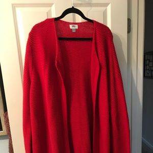 Jacket style Long sweater